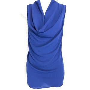 PLEIONE Scoop Neck Cobalt Blue USA Made Top ~sz XL